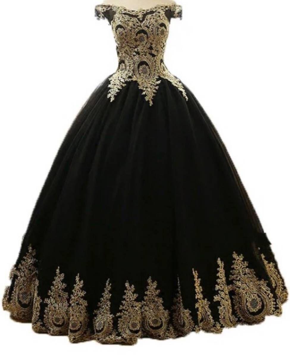 Vestido Debutante Preto E Dourado Inspiração 15 Anos Lari