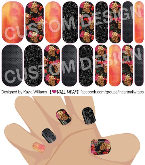 Skull Jamberry Nas Nail Wrap Design Why Bother With Nail Art