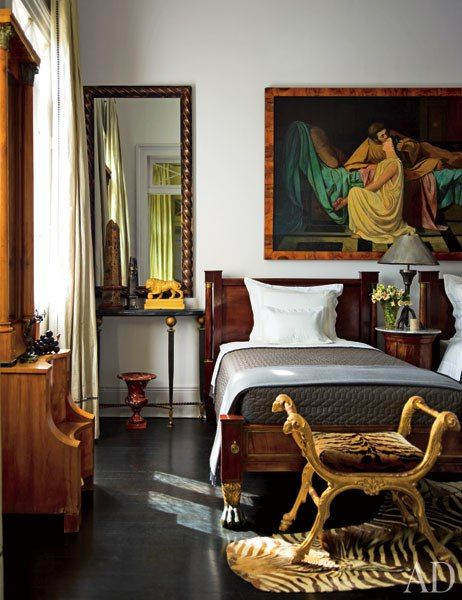 The guest bedroom in Peter Rogers's New Orleans house