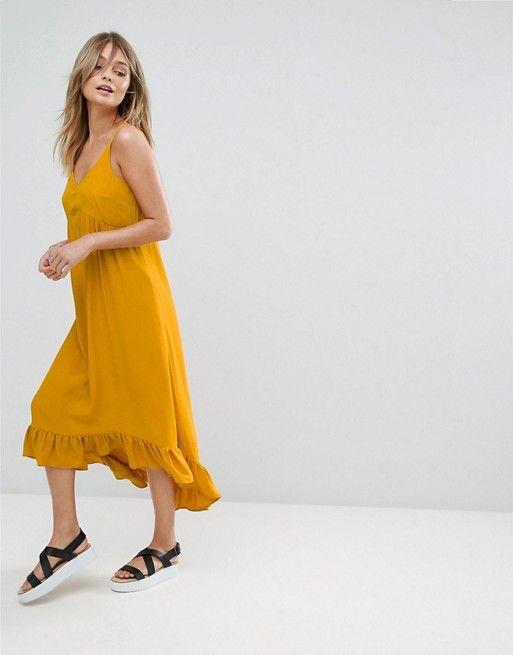 High low hem maxi dress