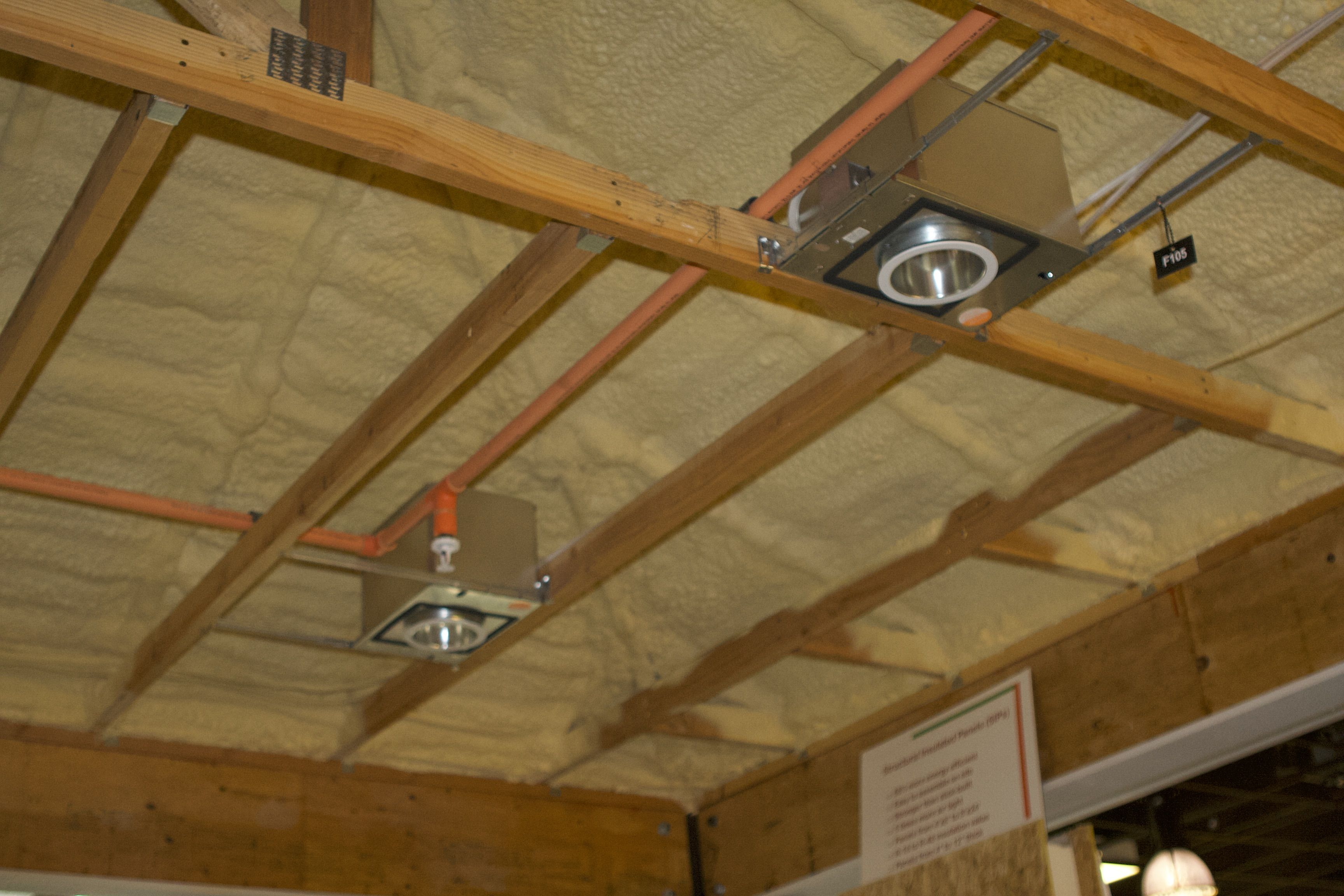 Recessed Lighting And Spray Foam Insulation From Icynene Spray Foam Insulation Roof Insulation