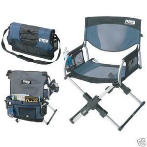 Exceptional GCI OUTDOOR PICO ARM CHAIR   SAGE GREY BLUE PORTABLE Directoru0027s Chair  Camping