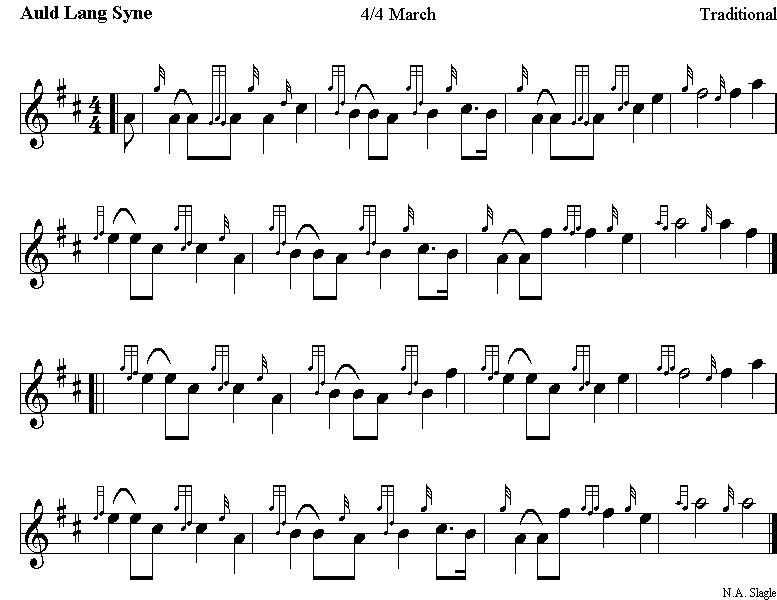 Easy bagpipe sheet music happy new year and my bagpipe