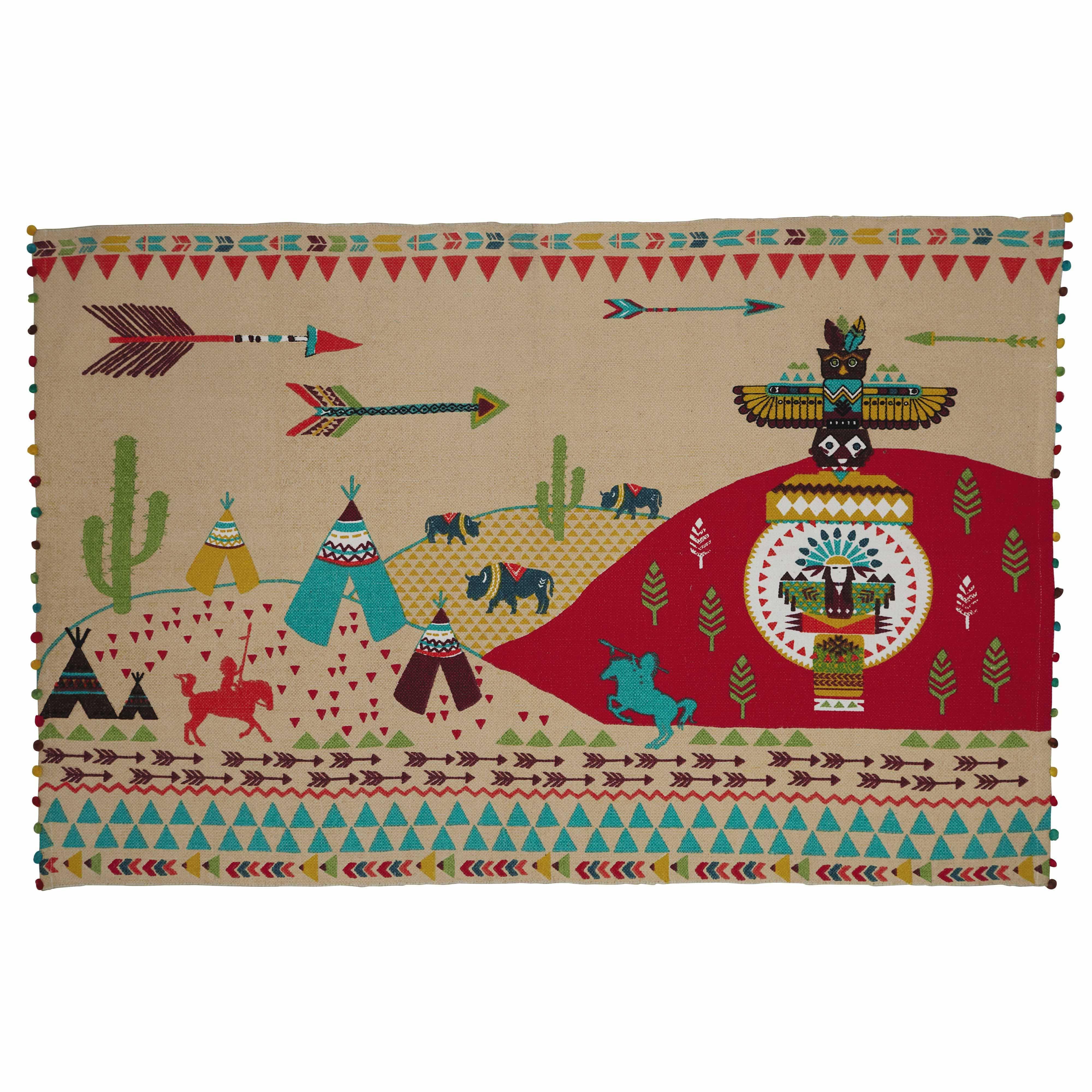 tapis enfant en coton multicolore 120 x 180 cm farwest maisons du monde tapis enfant tapis tapis coton