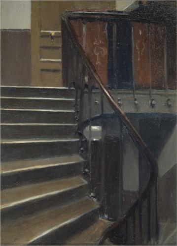 Edward Hopper, Stairway at 48 Rue de Lille in Paris, 1906.