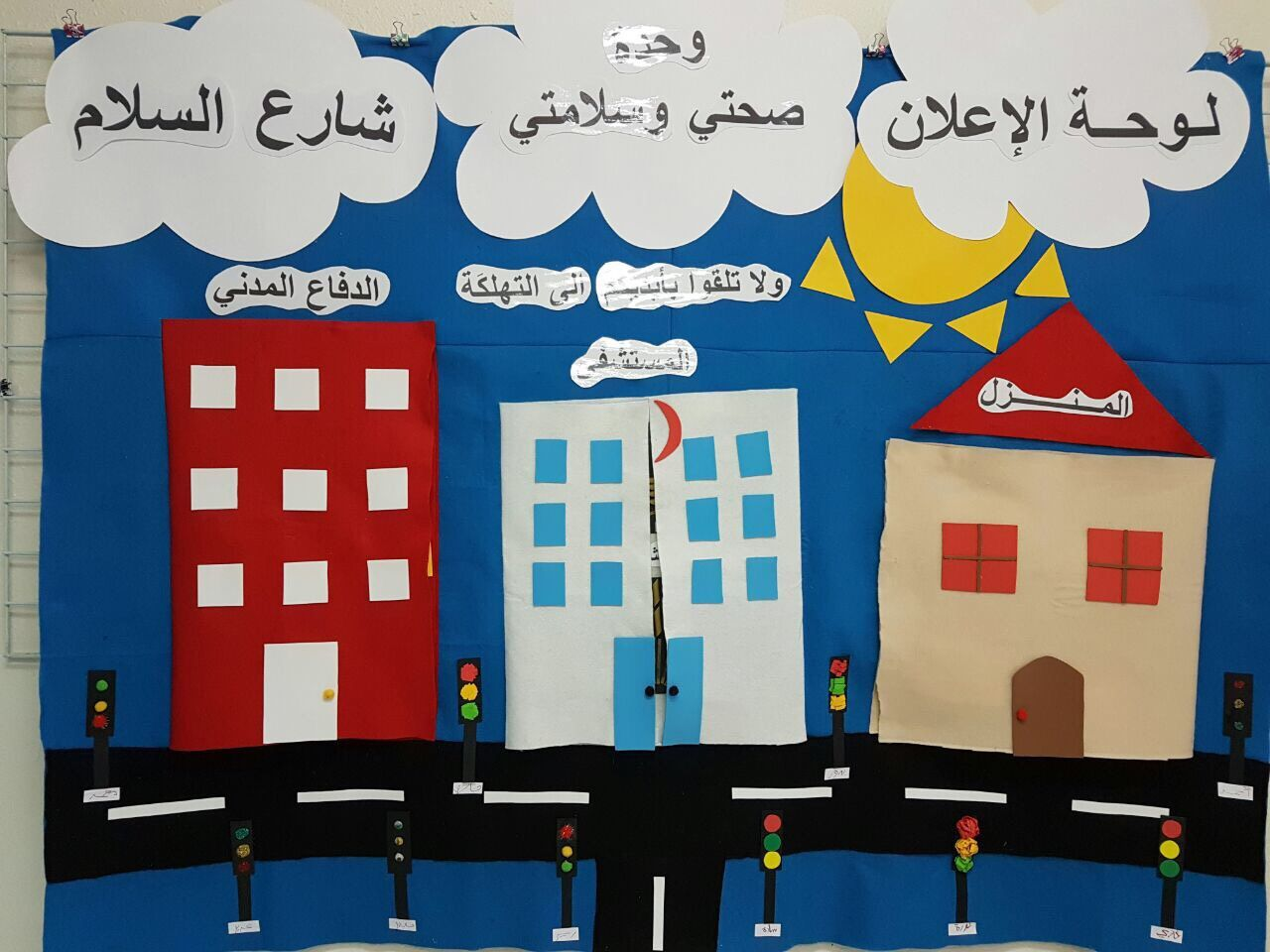 لوحة اعلان وحدة صحتي وسلامتي School Decorations Spring Bulletin Boards Activities