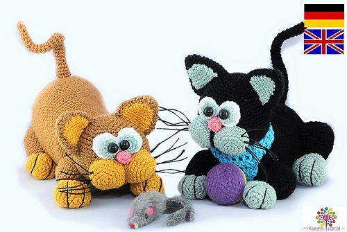 fluffy cats pattern by kuema tutorials epic crochet 3 pinterest h keln katzen h keln und. Black Bedroom Furniture Sets. Home Design Ideas