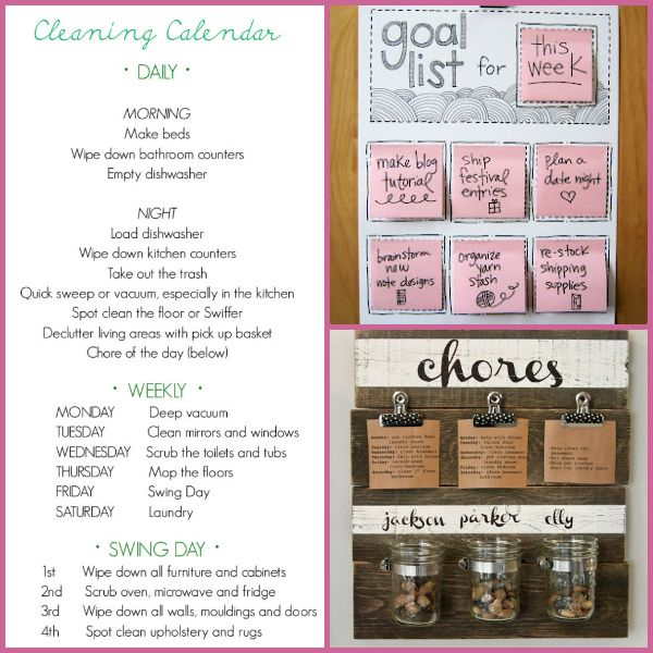 simple finds :: cleaning schedules