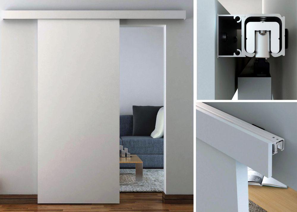 syst me de rail dissimul d coratif pour porte coulissante style traditionnel chambre. Black Bedroom Furniture Sets. Home Design Ideas