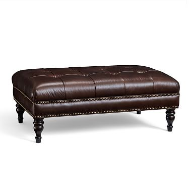 Pin By Frankie Jones On Farmhouse In 2020 Tufted Leather Ottoman