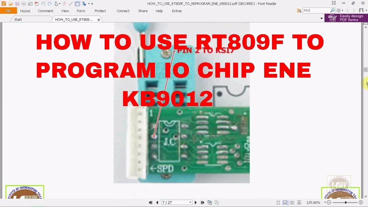 HowTo Use RT809F To Program SIO ENE KB9012  | Laptop Chip