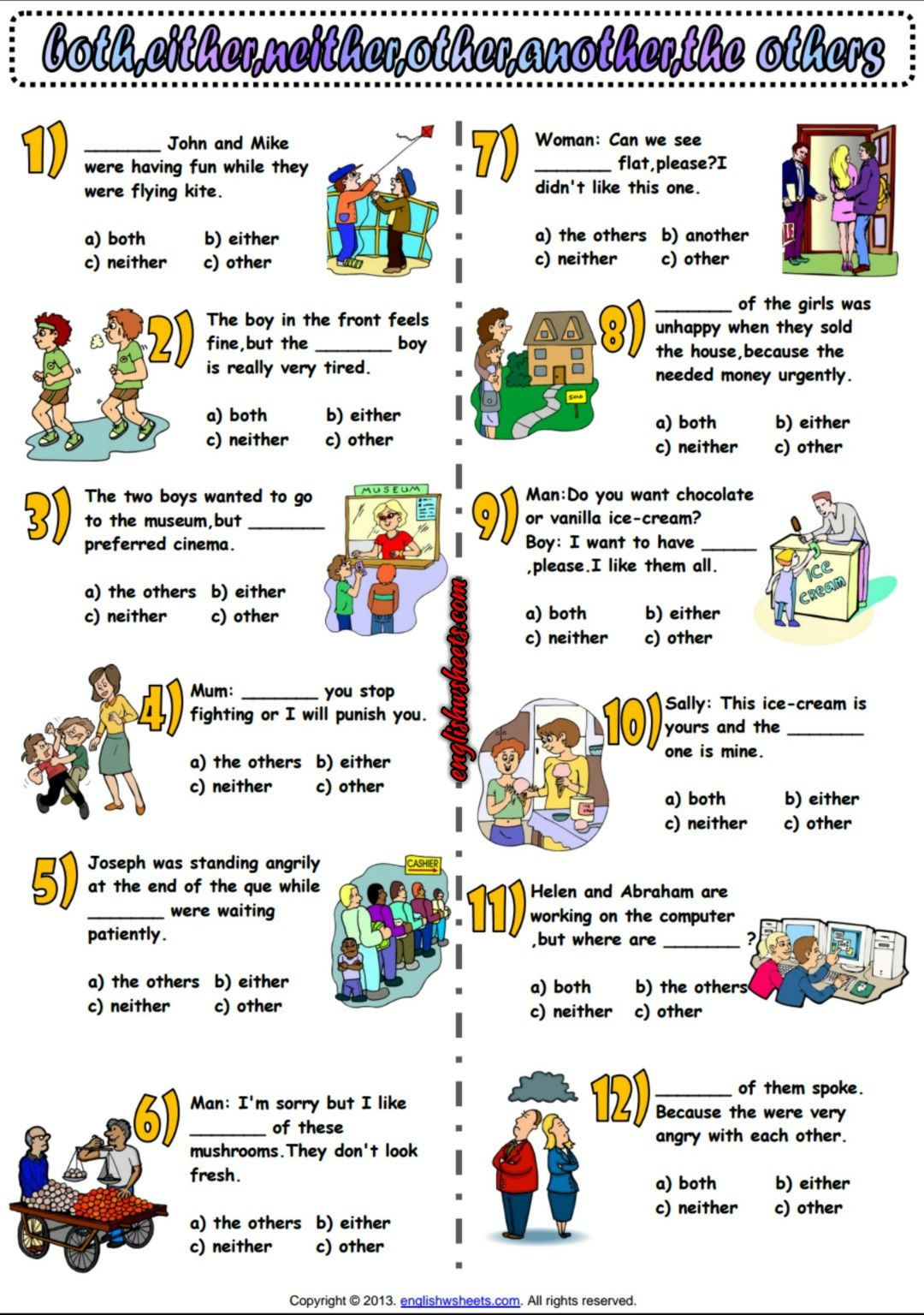 hight resolution of Determiners Multiple Choice ESL Exercise Worksheet   Determiners