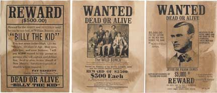 Real Wanted Poster OLD WEST WANTED POSTERSWanted Poster Bonnie – Real Wanted Poster