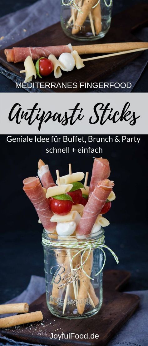 Antipasti Sticks - raffiniertes mediterranes Fingerfood | Joyful Food