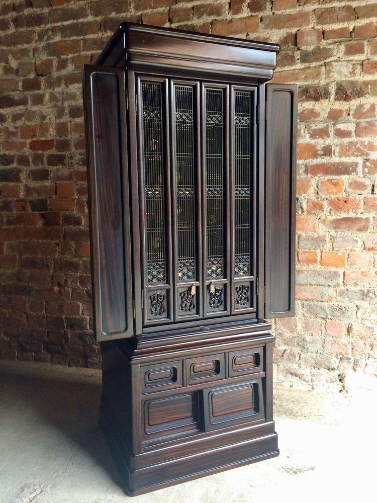 Stunning Chinese Butsudan Cupboard Cabinet Hardwood Shrine Prayer Temple