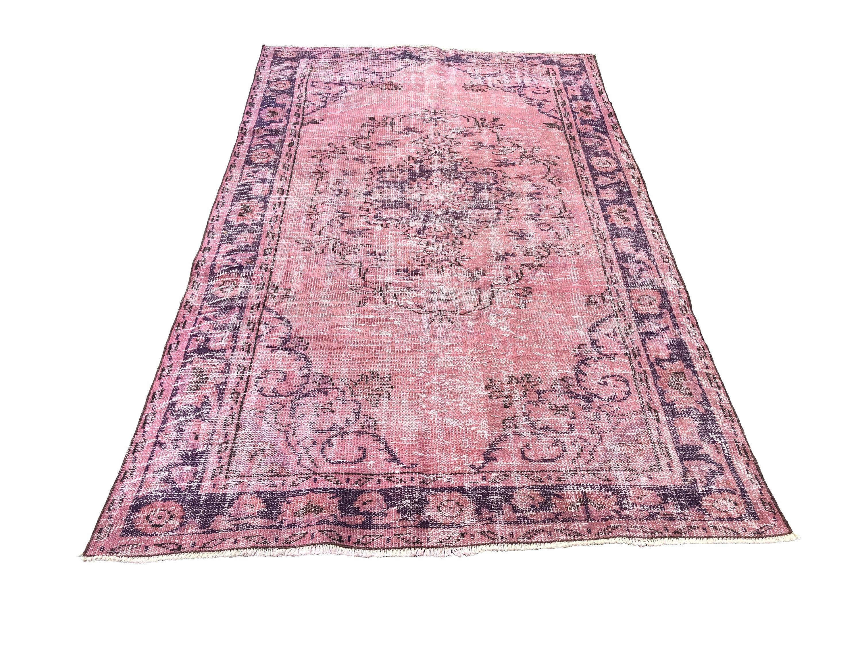 Pink Overdyed Rug 8 3 X 4 9 Ft Turkish Modern Decor Rug Vintage