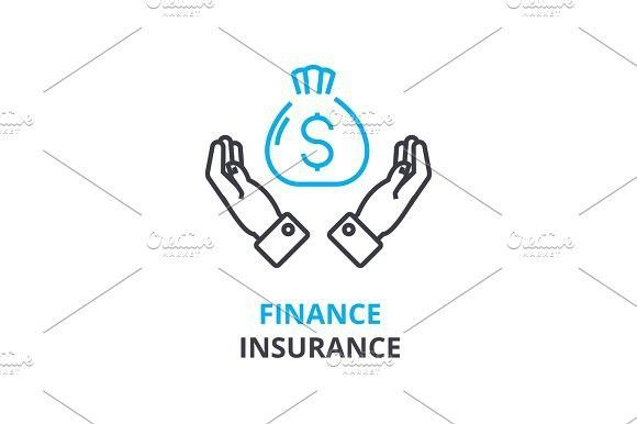 Finance insurance concept outline icon linear sign thin line finance insurance concept outline icon linear sign thin line pictogram logo flat illustration vector finance business flat illustration and ccuart Images