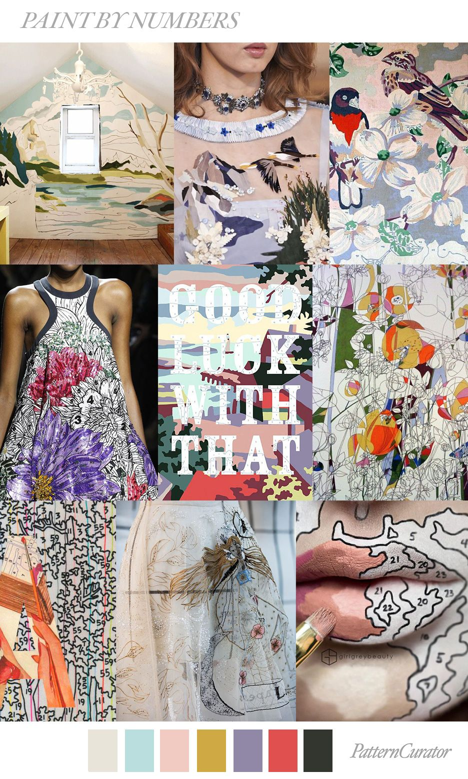 PAINT BY NUMBERS by PatternCurator SS19 | SS 19 | Today's ...