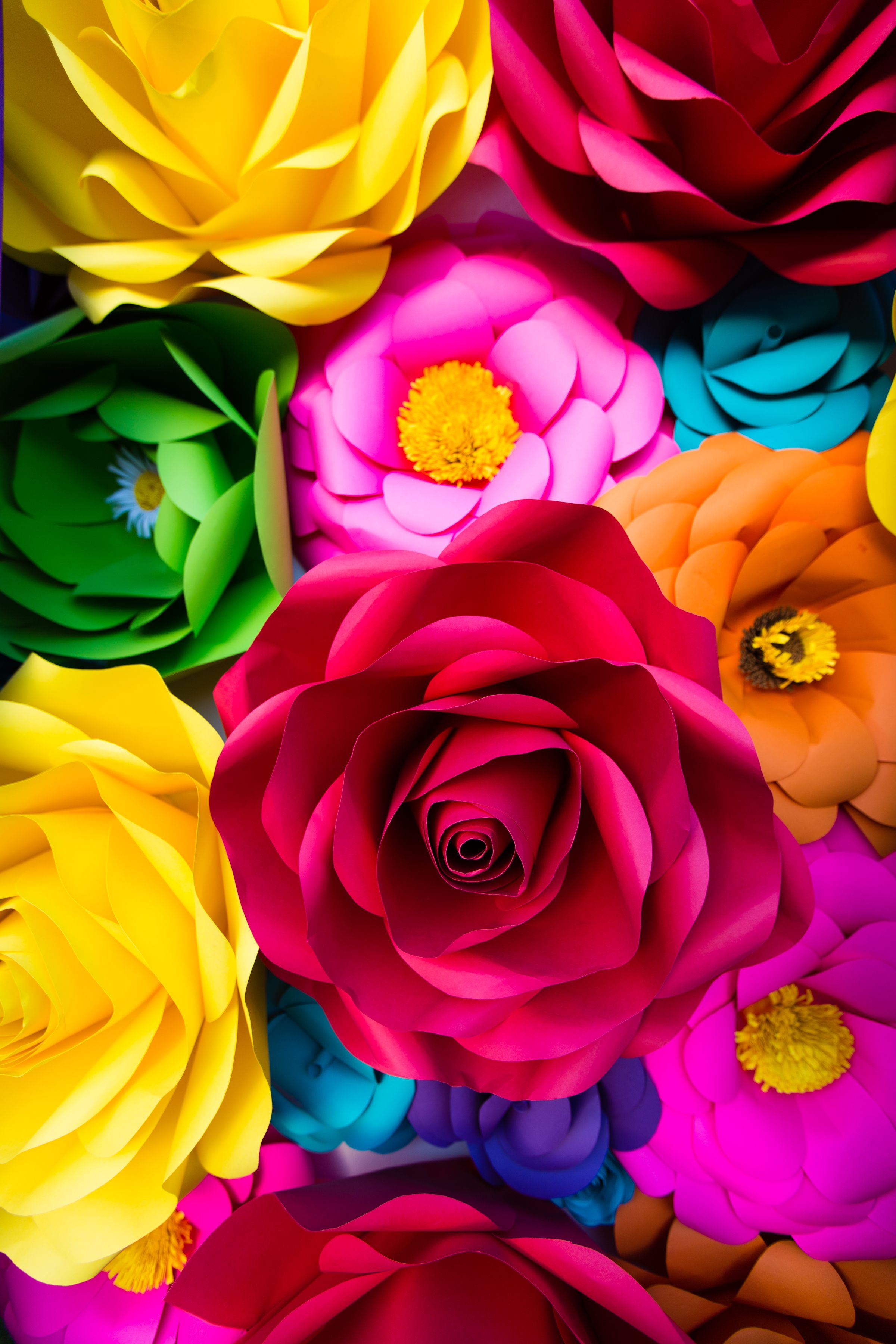Brighten up your wedding or party with a unique paper flower wall brighten up your wedding or party with a unique paper flower wall they come in any color but this bright multi color one was perfect for this indian mightylinksfo