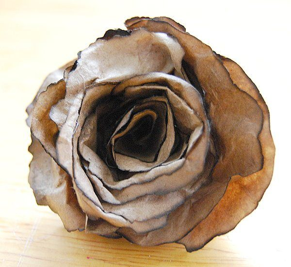 tutorial for making brown bag flowers,diy