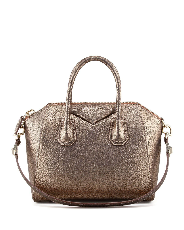faea61a03e Givenchy Antigona Small Metallic Leather Satchel Bag, Gold | girl ...