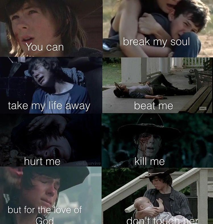 Carl and his little sister | TWD | Walking dead quotes, The walking
