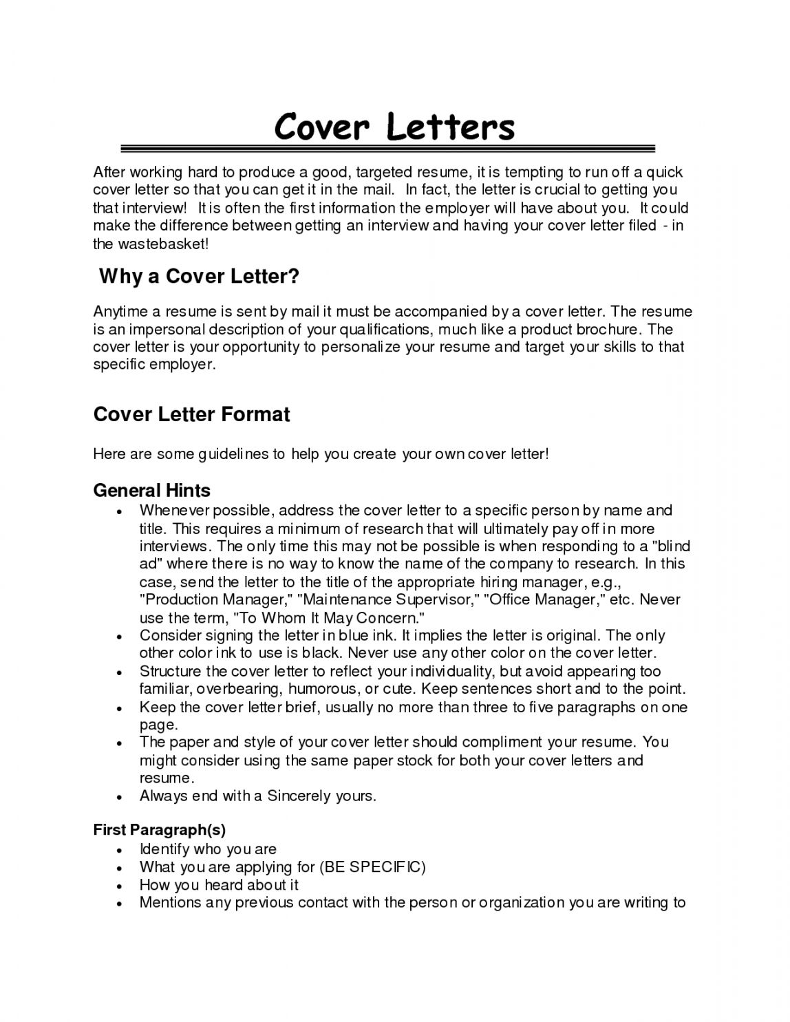 Great Cover Letter Opening Paragraphs
