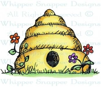 Bee Hive - Being Retired January 2014 - Rubber Stamps - Shop