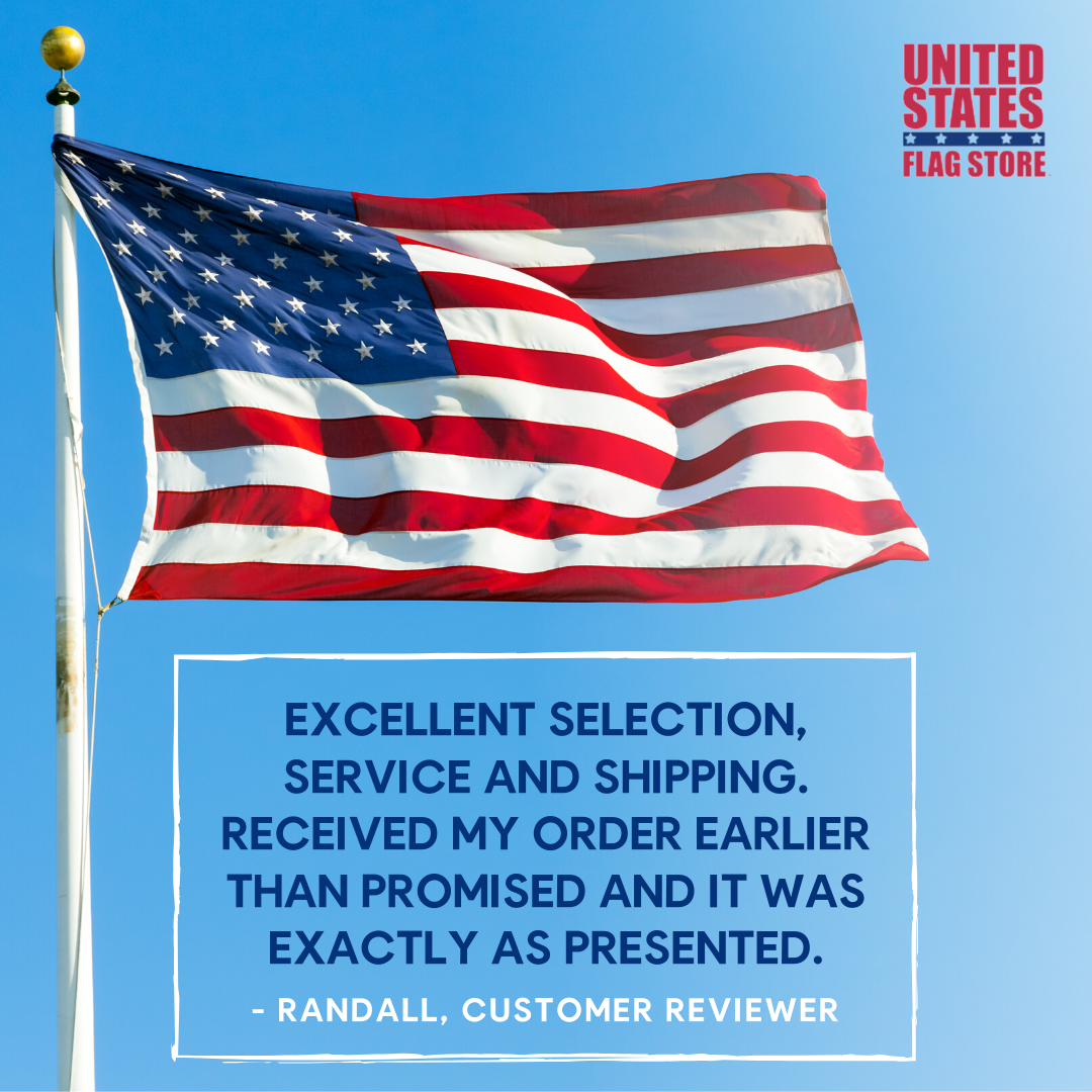 Thanks For The Awesome Review Randall Want To Check Out Our Products Visit Our Website Today Http Ow Ly 5vun50x In 2020 Flag Store United States Flag Flag