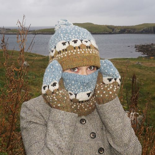 Photo of Baa-ble Mittens and Cowl