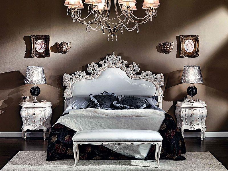 letto imbottito, letto matrimoniale, letto intagliato Casa ...