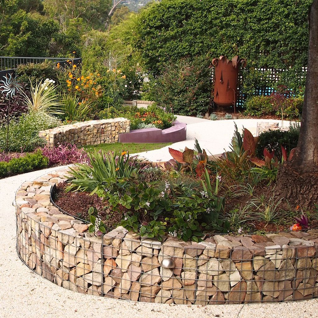 50 Smart Ways To Use Gabions in Your Garden | Pinterest | Sloping ...
