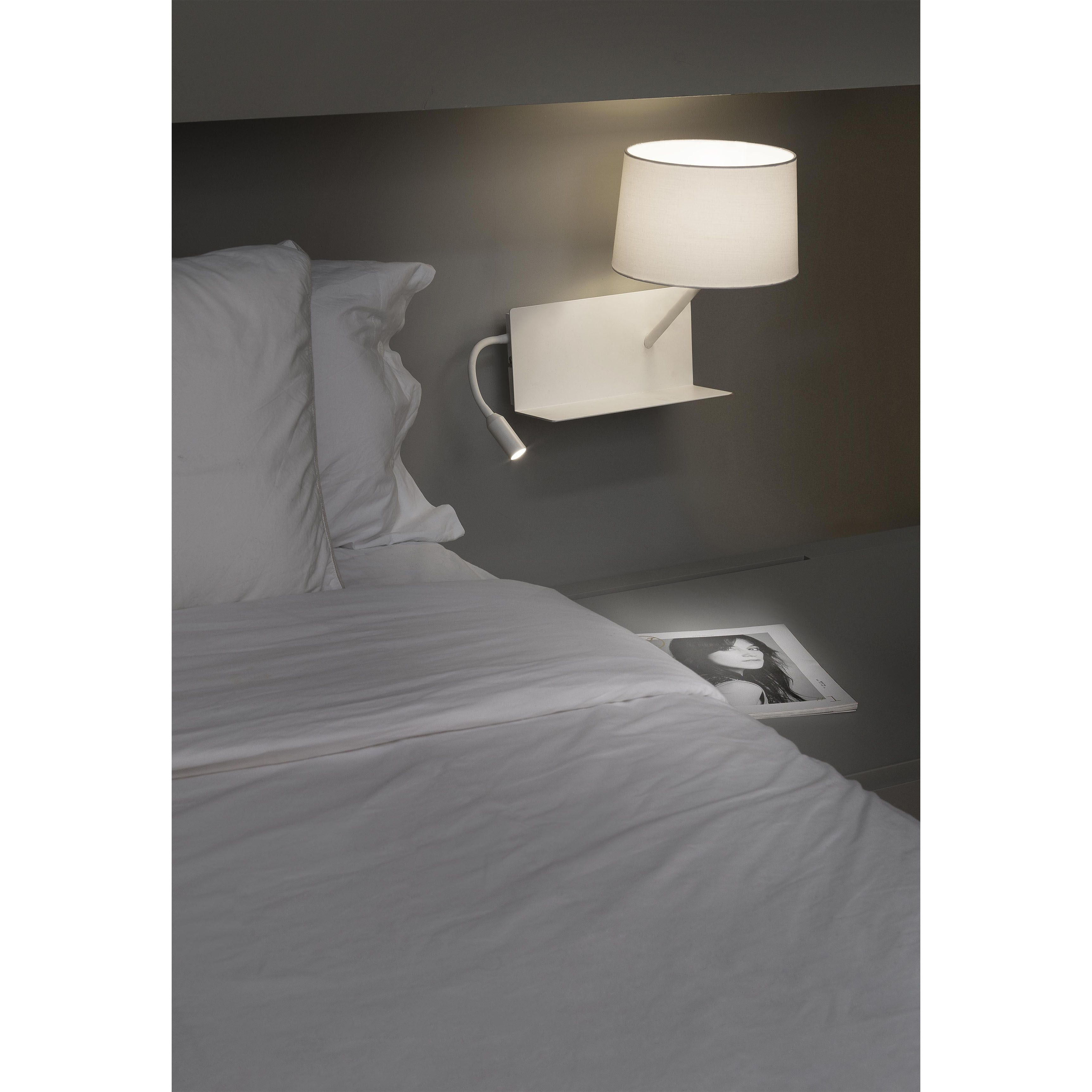 Lampe De Lit Usb Applique Handy Avec Liseuse Led A Droite Blanc