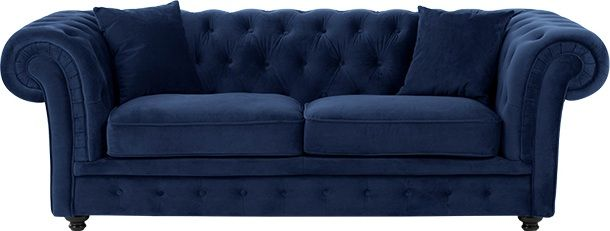 fd80decc05cd Branagh 2 Seater Chesterfield Sofa, Electric Blue Velvet from Made.com.  Available in a variety of fresh colours, the Branagh 2 seater sofa embodies  .