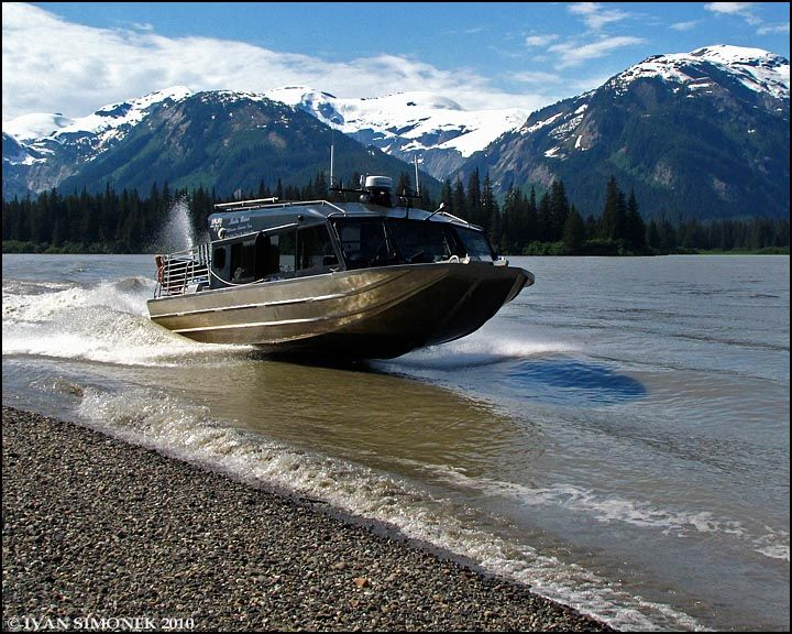Jet boats run in shallow water stikine river pinterest for Shallow water fishing boats