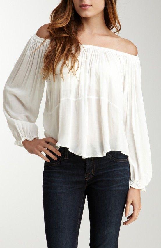 7ddd30716a6 Off Shoulder Boho Top | Bohemian / Hippie Style | Fashion, Tops, Style
