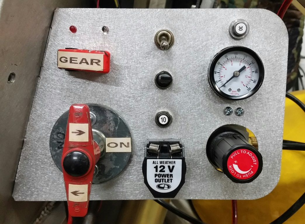 Cabinbike External Control Panel Provides Controls For Door Landing Gear Operation And Pressure Adjustment Main Batte Battery Maintenance Landing Gear Gears