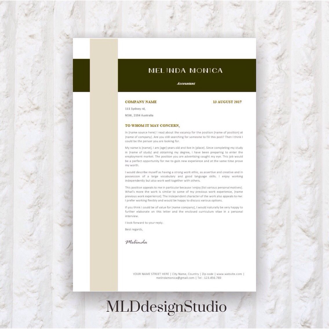Resume Template 6 pages CV Template + Cover Letter