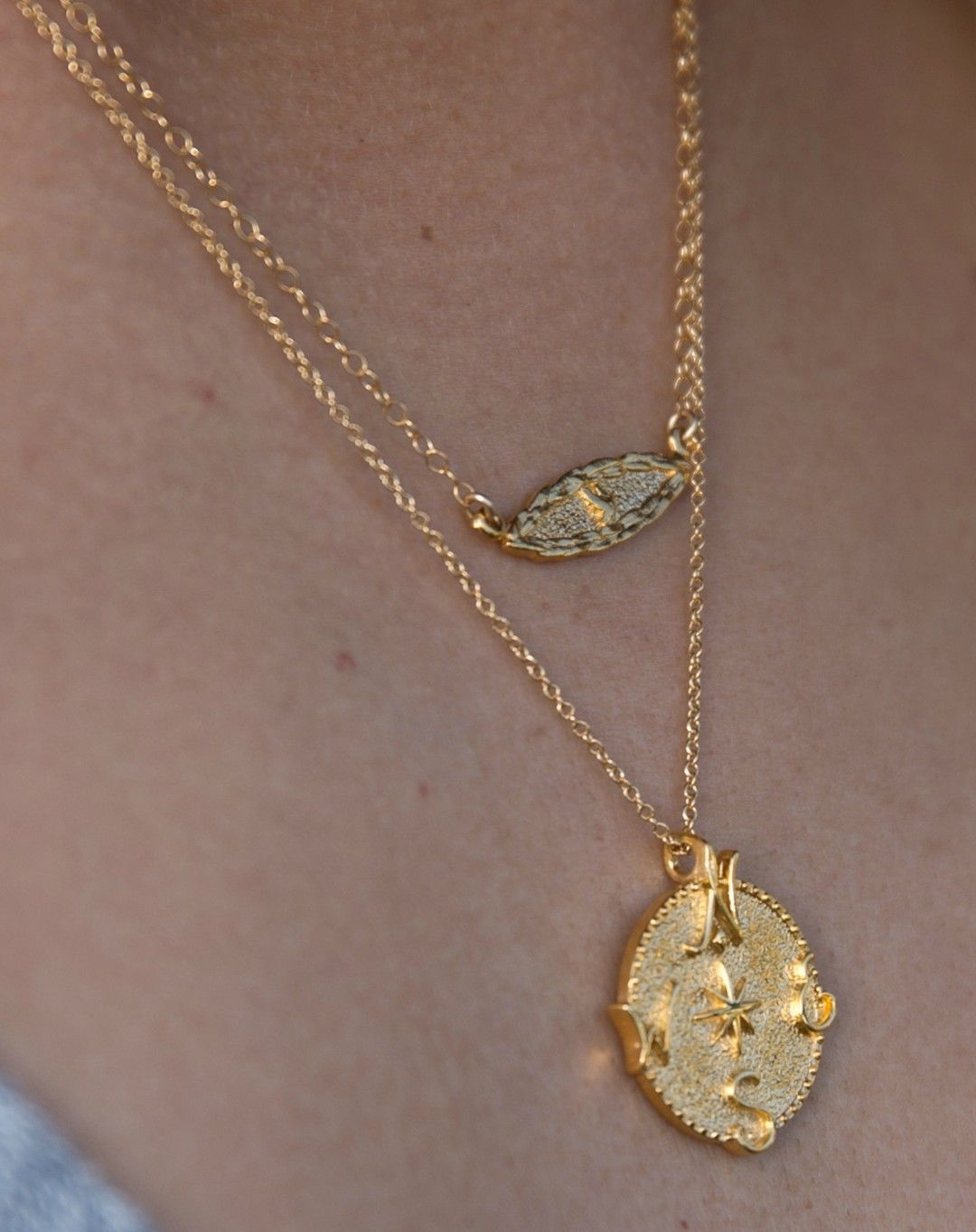 @nathaliesherman posted to Instagram: The beautiful Amor Vincent Omnia Dove Necklace layered with the infamous Compass pendant necklace is a perfect pairing this holiday season.  Amor Vincent Omnia translates to Love Conquers All in Latin. the design is accompanied with a Dove, the symbol for peace, in the center.  #intrigue #loveconquersall #dovenecklace #peacenecklace #symbolicjewelry #worldpeace #omnia #symbolism #symbolicdesigns #madeinamerica #madeintheusa #americanmade #madeinusa #giftsfor