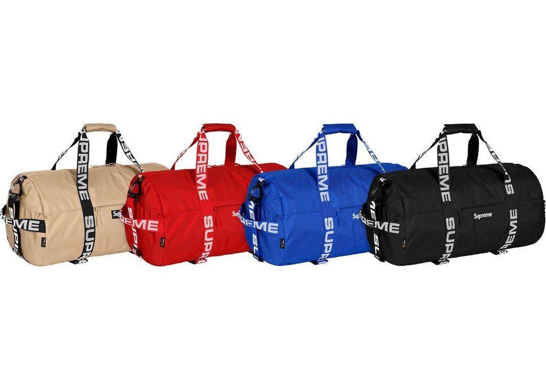 Supreme Large Duffle Bag (SS18) Black  bb355ec5a1704