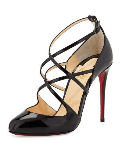 8cb27bc02a7 CHRISTIAN LOUBOUTIN SOUSTELISSIMO STRAPPY RED SOLE PUMP, BLACK ...