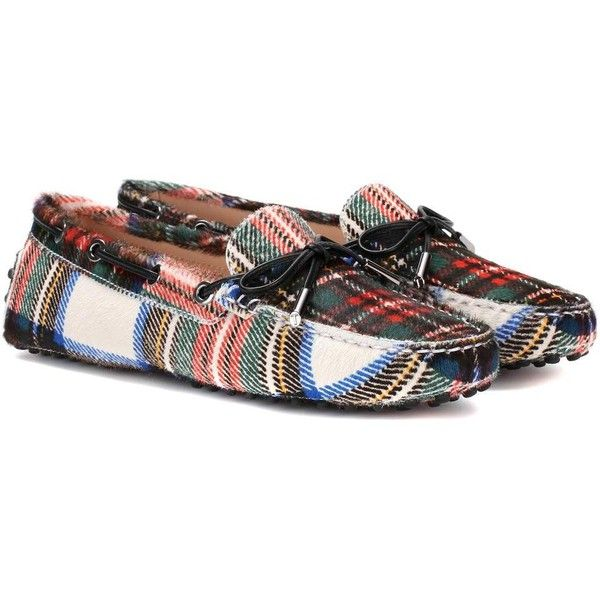 Gommino multicoloured checked calf hair loafers by Tod's.