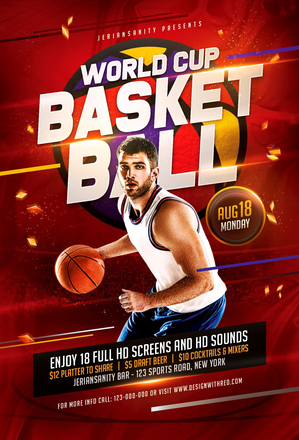 Fiba World Basketball Flyer Template Sports Graphic Design Flyer Sports Flyer