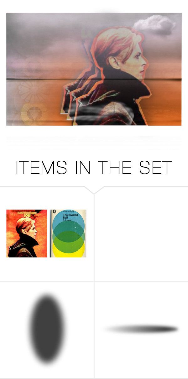 David Bowie: the Low album by annette-heathen ❤ liked on Polyvore featuring art, davidbowie and musicplaylist #lowalbum