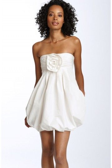 Babe Cute Short Summer Wedding Dress Bubble Hem MBDS1036