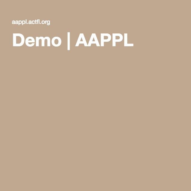 Demo | AAPPL | Spanish Classroom Ideas | Spanish classroom