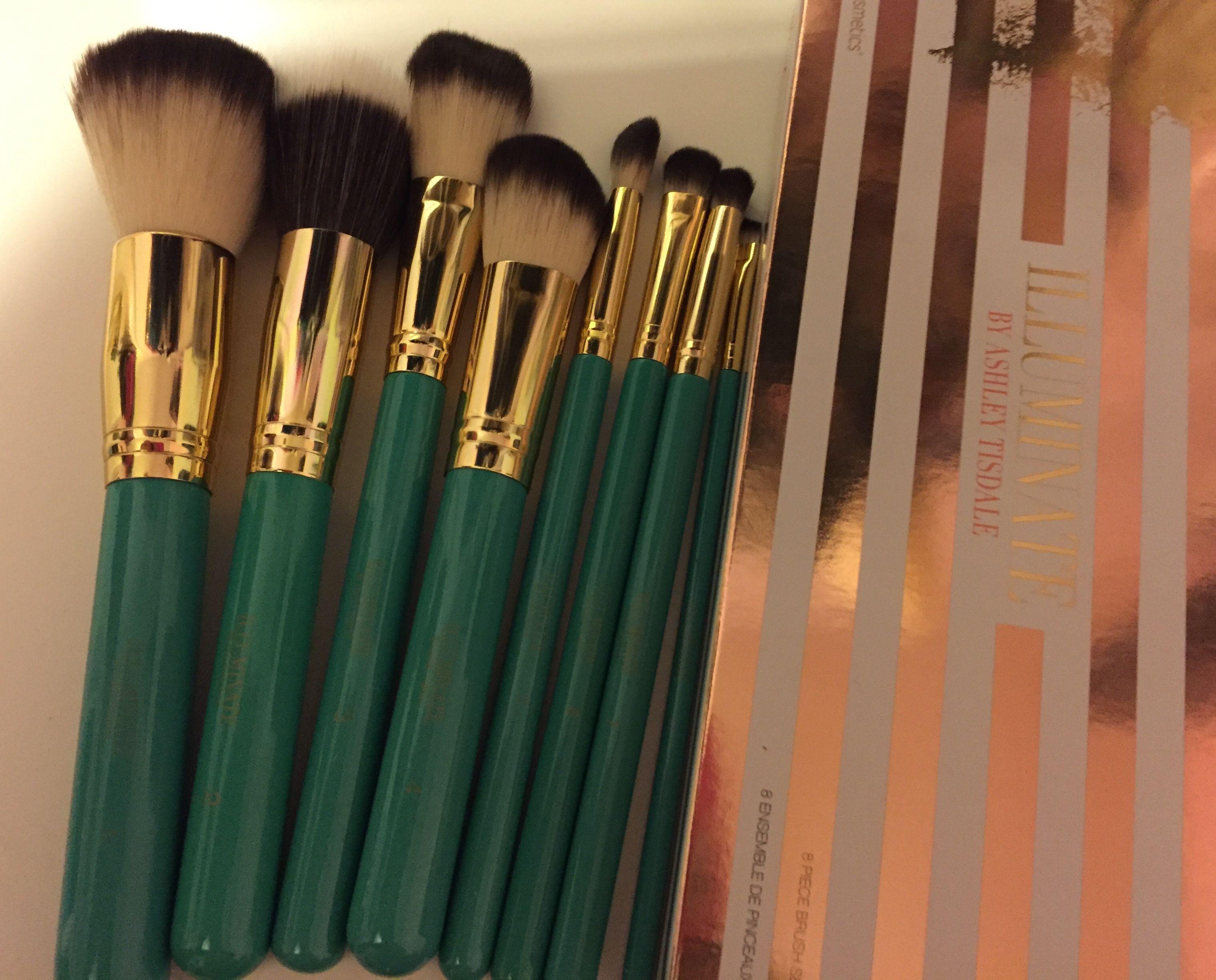 colored make up brushes illuminate by ashley tisdale