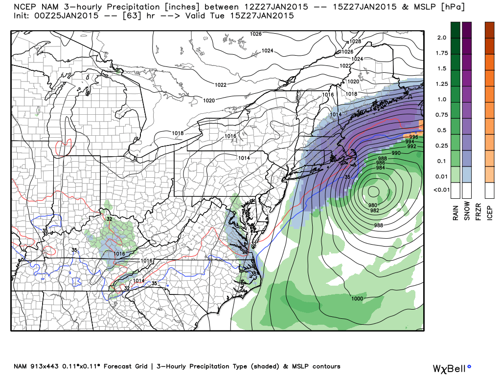 Tonight's clipper system is set to explode into an intense Nor'easter. The question is, how much snow does it give us before heading up the coast?