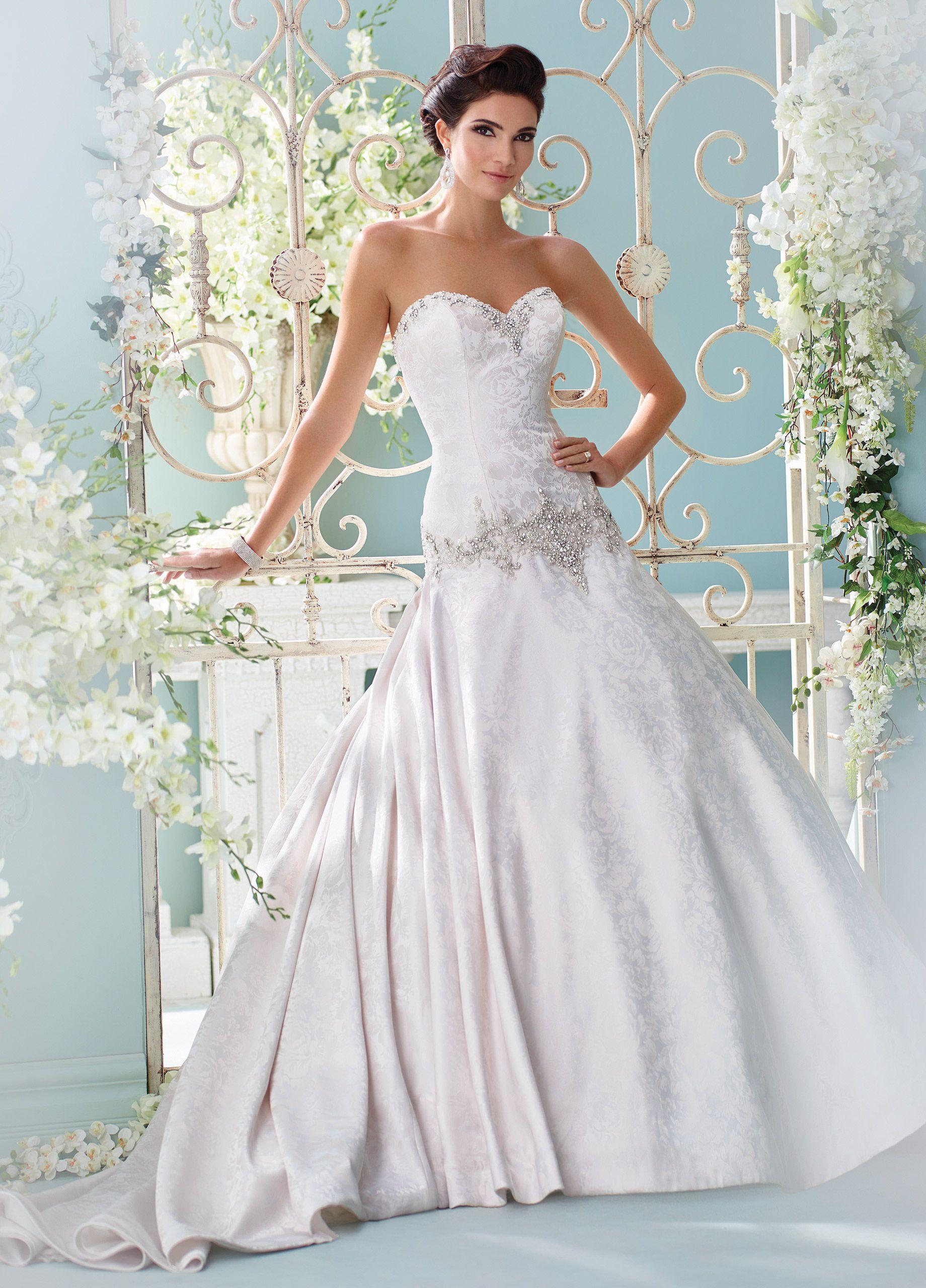 Handbeaded strapless aline wedding dress cyan lace