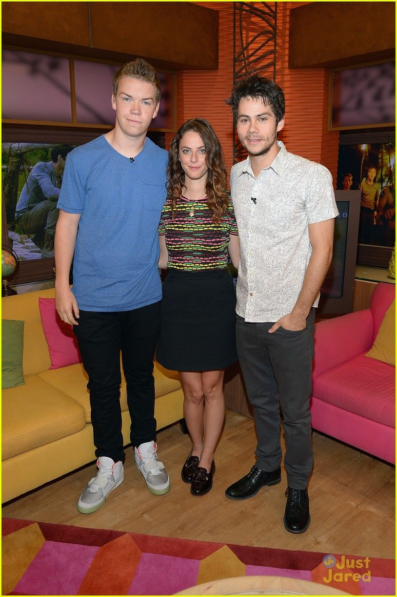 Will Poulter Kaya Scodelario And Dylan Obrien At Maze Runner